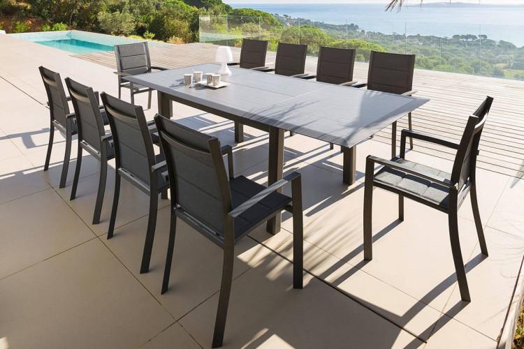Table extensible Allure 160/254 cm en Aluminium et HPL - Hespéride