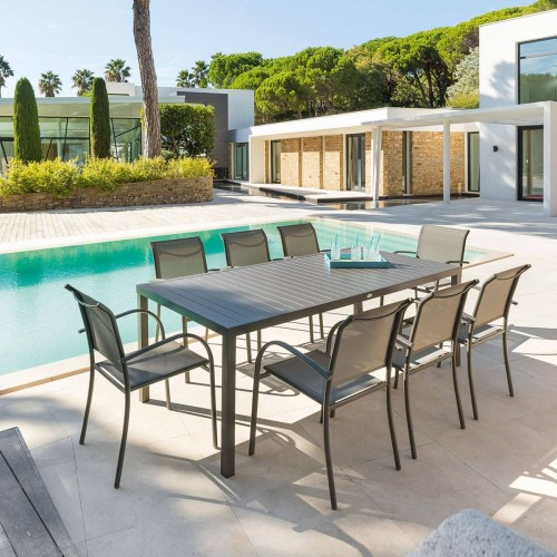 Table de jardin PIAZZA - 8 Personnes - Aluminium