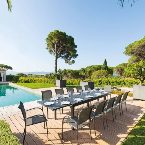Table de jardin extensible piazza hesp ride 8 personnes aluminium - Table de jardin aluminium 12 personnes ...