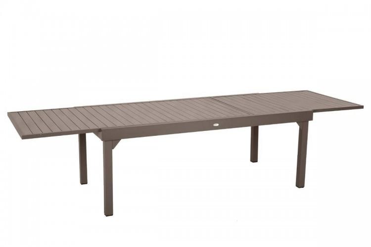 Table de jardin extensible PIAZZA - 12 Personnes - Aluminium