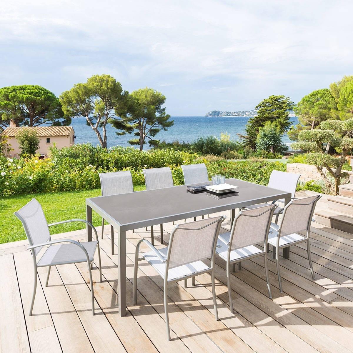 Table de jardin PIAZZA Hespéride - 8 Personnes - Aluminium ...