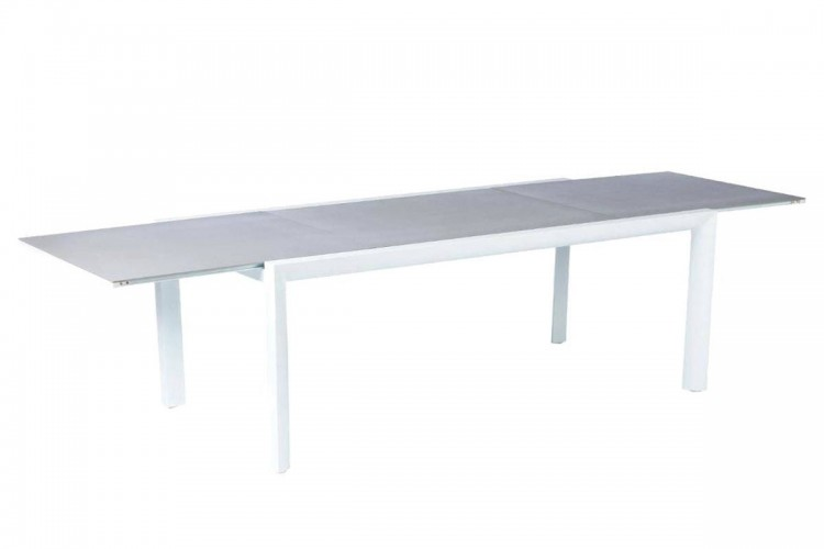 Table de jardin extensible TITANIUM - Hespéride - 12 Personnes ...