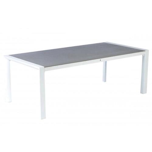 Table de jardin TITANIUM - 8 Personnes - Aluminium / Verre émaillé