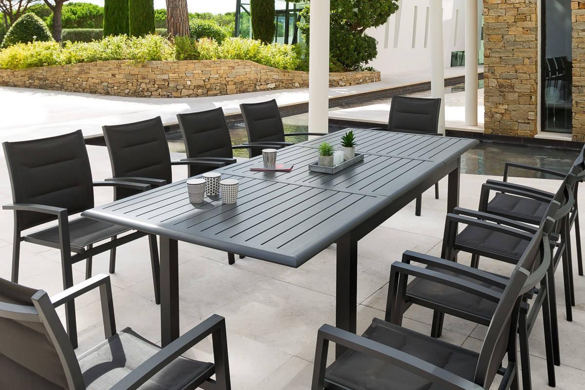Table de jardin extensible piazza hesp ride 12 - Mobilier jardin hesperide ...